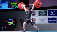 Armands Mežinskis Foto: Japan Weightlifting Association