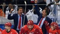 Harijs Vītoliņš un Oļegs Znaroks triumfē Phjončhanas olimpiskajās spēlēs Foto: fhr.ru