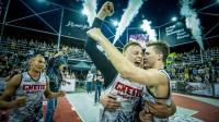 """Ghetto Basket"" 3x3 basketbolisti triumfē Grīziņkalna kolizejā Publicitātes foto"