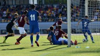 Azerbaidžānas futbola izlase gūst vārtus pret Latviju Foto: Azerbaidžānas Futbola federācija
