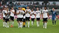 Vācijas izlase pēc pēdējās pārbaudes spēles pret Saūda Arābiju Foto: SIPA / Scanpix