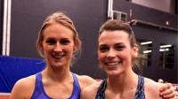 Gunta Latiševa-Čudare un Sindija Bukša  Foto: Mareks Gaļinovskis, athletics.lv
