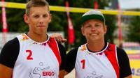 Haralds Regža un Toms Šmēdiņš Foto: Latvijas Volejbola federācija