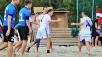 Latvijas pludmales futbola izlases spēle ar Igaunija. Foto: LFF