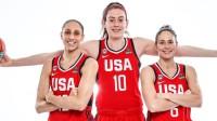 Daiana Taurasi, Briena Stjuarte un Sjū Bērda. Foto: FIBA