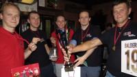 """Sporta viktorīnas 5. sezonas uzvarētāji - """"Nobody ***** with Jesus"""" komanda.  Foto: Sporta viktorīna"""