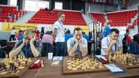Toms Kantāns (no kreisās), Artūrs Neikšāns, Igors Kovaļenko. Foto: Marija Jemeļjanova
