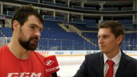 Kaspars Daugaviņš sniedz komentāru  Foto: Spartak.ru TV