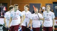 Latvijas valstsvienība. Foto: Ritvars Raits, IFF Floorball
