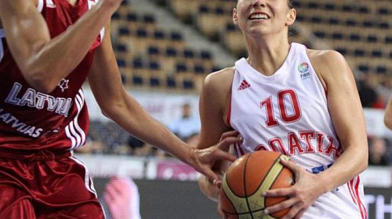 Iva Ciglara savas labākās spēles aizvadīja pret Latviju un Melnkalni Foto: Eurobasketwomen2011