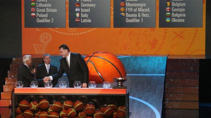 Arvīds Sabonis piedalās EuroBasket 2011 izlozē Viļņā, Lietuvā Foto: AFP/Scanpix