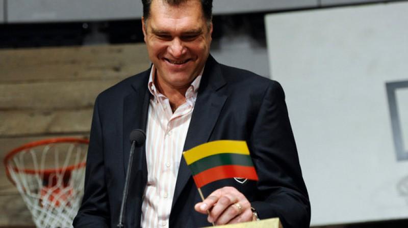 Lietuvas Basketbola federācijas (LBF) prezidents Arvīds Sabonis Foto: AP / Scanpix