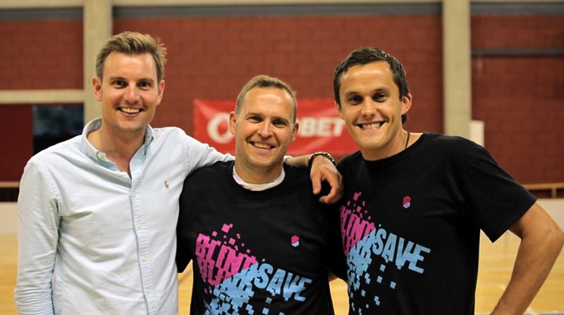 Patriks Amans (no kreisās), Artūrs Irbe un Andis Blinds Foto: BLINDSAVE