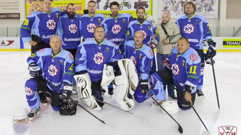 """1. līgas uzvarētāji """"Seda"""" hokejisti Foto: Edgars Vaivads"""