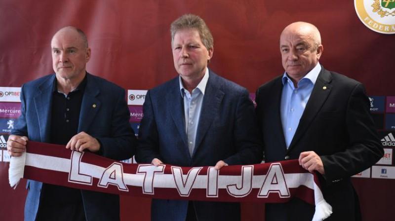 Guntis Indriksons, Aleksandrs Starkovs un Jānis Mežeckis Foto: Romāns Kokšarovs/F64