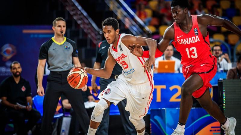 Fragments no Spānijas un Kanādas spēles Foto: FIBA.com