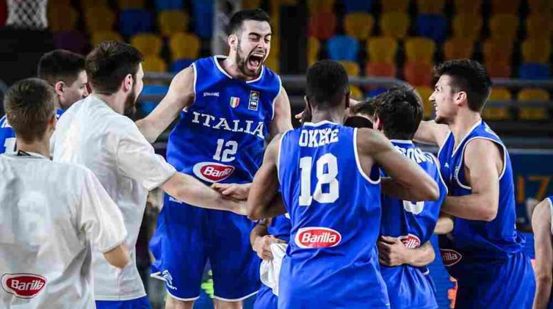Itālijas izlases prieki Foto: FIBA.com