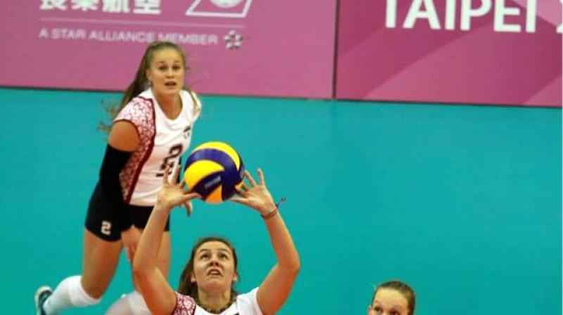 Latvijas volejbola studentes Taivānā Foto: Sandra Škutāne, Latvijas Augstsk. sporta sav.