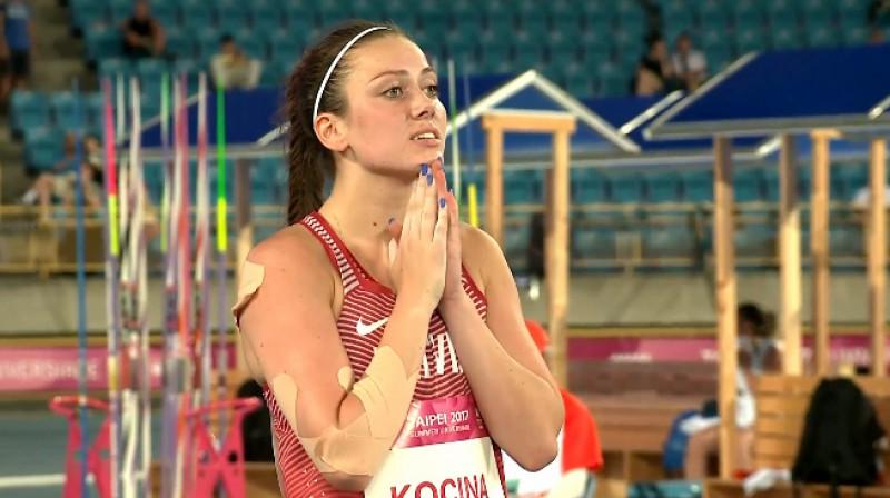 Anete Kociņa pēc sestā mēģinājuma Foto: FISU