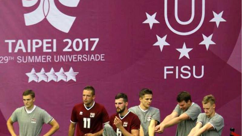 Latvijas volejbola studenti Taivānā Foto: Sandra Škutāne, Latvijas Augstsk. sporta sav.