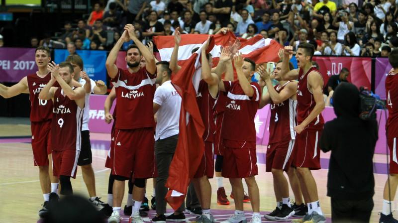 Latvijas basketbola studenti Taivānā Foto: Sandra Škutāne, Latvijas Augstsk. sporta sav.
