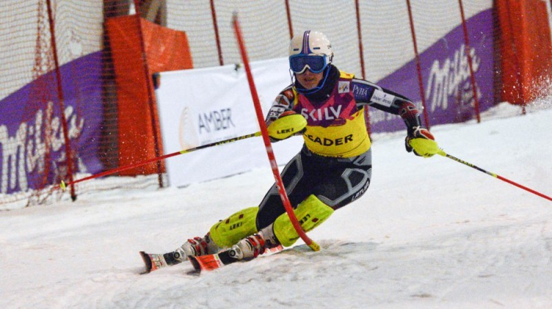 "Evelīna Gasūna ""SnowArena"" trasē. Foto: E.Lukšo, Ski.lv"