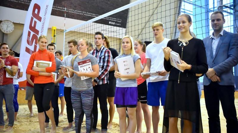 Sporta stipendiāti Foto: Latvijas Sporta federāciju padome