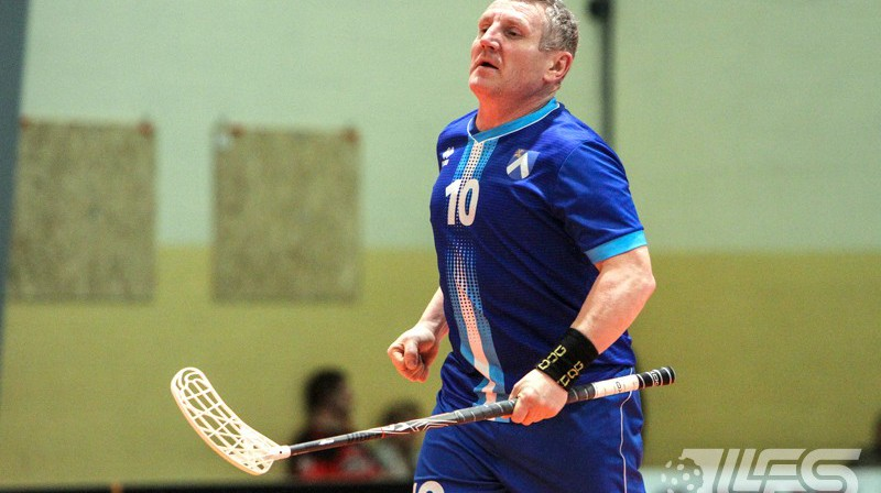 Agris Grandovskis ir Veterāni 45+ kategorijas rezultatīvākais florbolists Foto: Floorball.lv
