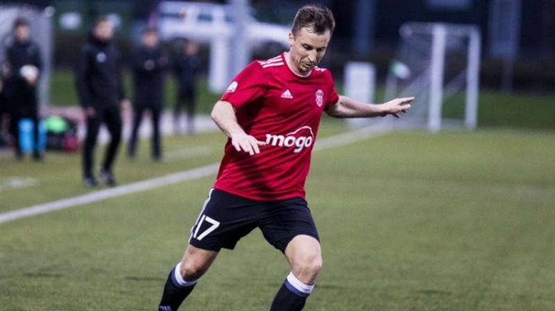 "Igors Kozlovs spēlē pret ""Mettu"". Foto: Nora Krevņeva Baibakova"