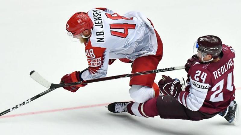 Nikolass Jensens un Miķelis Rēdlihs Foto: AFP/Scanpix