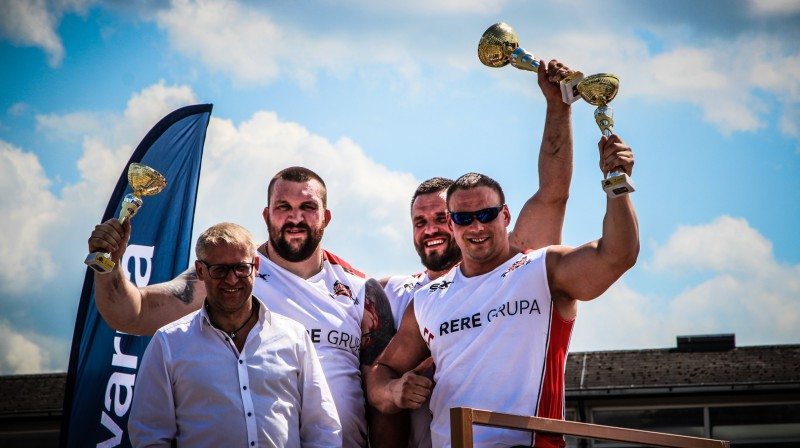 Uzvarētāju trio  Foto: stiprinieki.lv