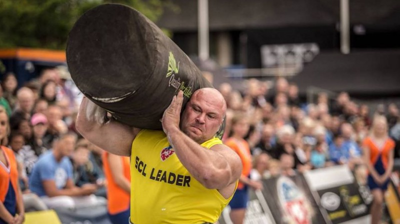 Dainis Zāģeris Nīderlandē Foto: Strongman Champions League