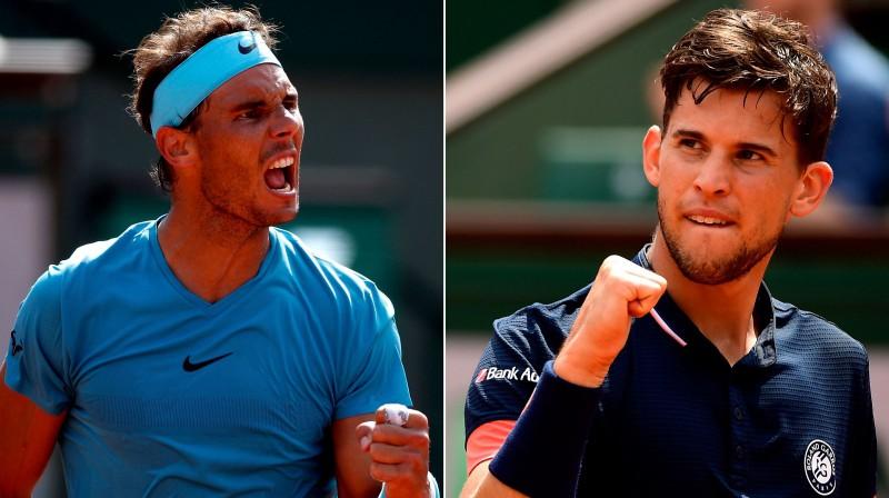 Rafaels Nadals un Dominiks Tīms Foto: EPA/Scanpix
