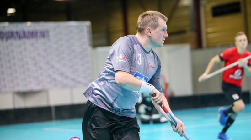 """Visu laiku rezultatīvākais """"Unihoc Riga Cup"""" florbolists Pēteris Freimanis Foto: Ritvars Raits"""
