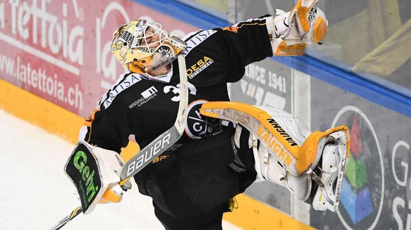 Elvis Merzļikins. Foto: hclugano.ch