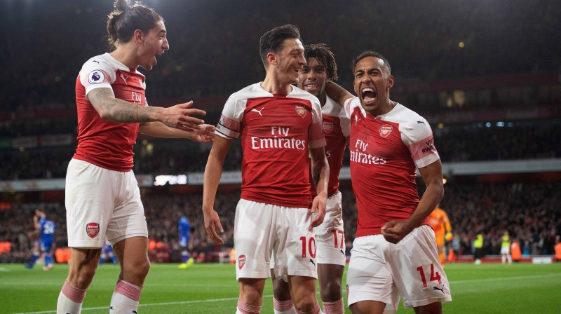 """Arsenal"" futbolisti. Foto: PA Images/Scanpix"