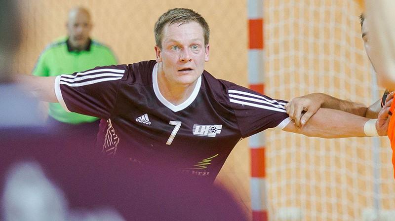 Aivis Jurdžs. Foto: handball.lv