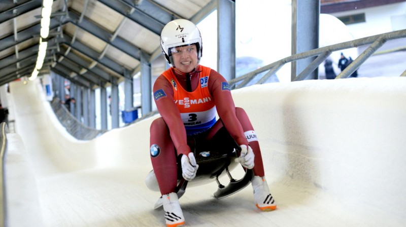 Kendija Aparjode. Foto: Latvijas Kamaniņu sporta federācija