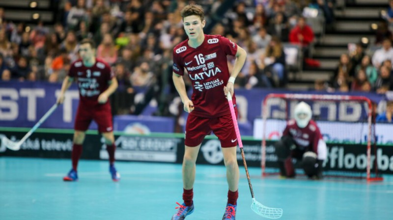 Klāvs Jansons Foto: Floorball.lv