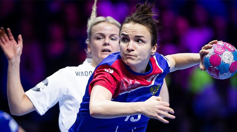 Anna Vjahireva spēlē ar Dāniju guva 9 vārtus.