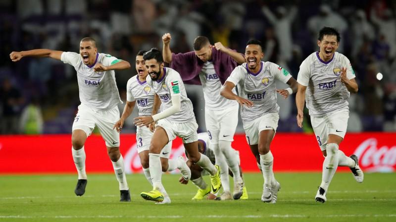 """""""Al Ain"""" futbolisti pēc uzvaras. Foto: Reuters/Scanpix"""