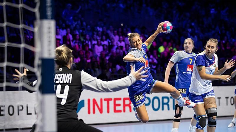 Natalī Hagmane mačā ar Krieviju sasniedza Eiropas čempionātu rezultativitātes rekordu vienā mačā - 17 vārti.