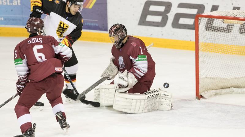 Latvijas U20 hokeja izlase. Foto: Tanya Long