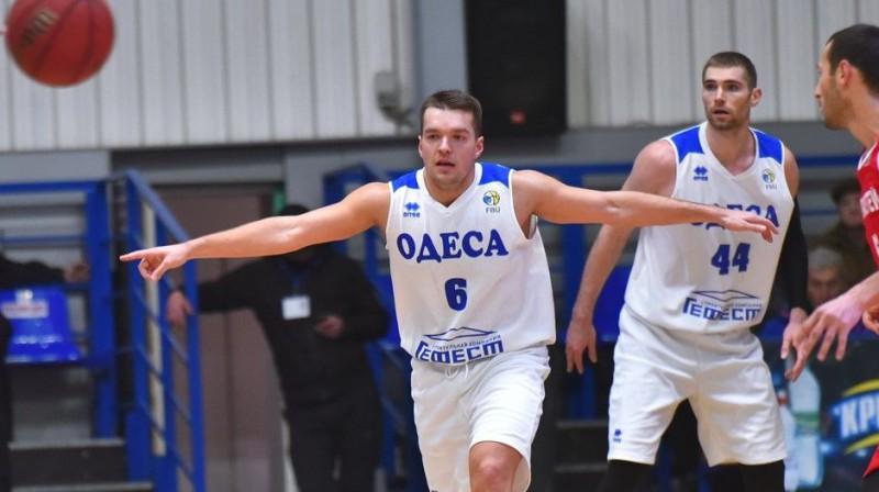 Mārcis Vītols un Arnolds Helmanis. Foto: bcdynamo.odessa.ua