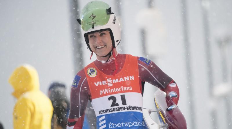Elīza Cauce pēc sacensībām Kēnigszē. Foto: EPA/Scanpix