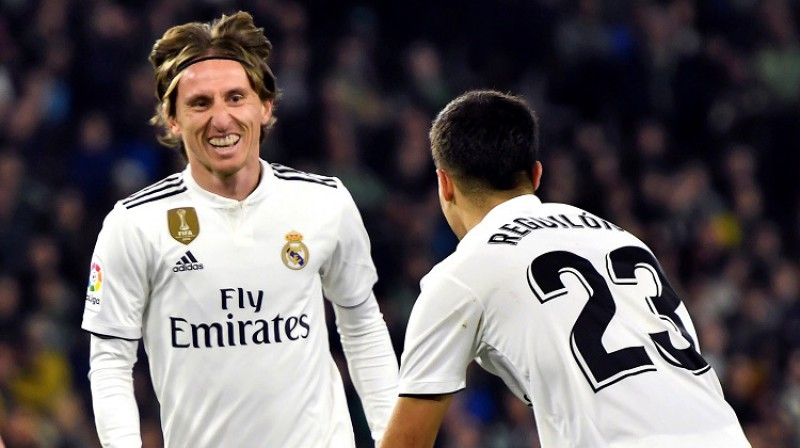 Luka Modričs atklāja rezultātu, bet Madrides grūtības tikai ar to sākās... Foto: EPA/Scanpix