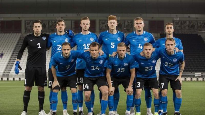 Igaunijas futbola izlase. Foto: Jana Pipar / EJL