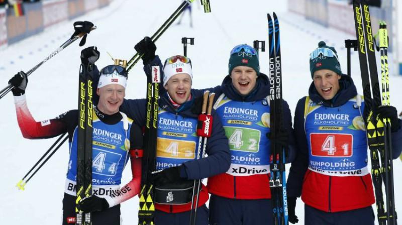Norvēģijas stafetes komanda. Foto: AP/Scanpix