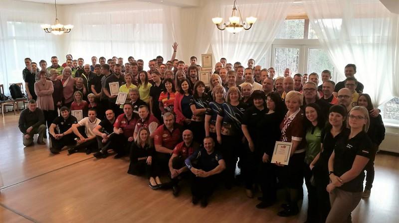 Pagājušā gada Latvijas čempionāta dalībnieki Publicitātes foto