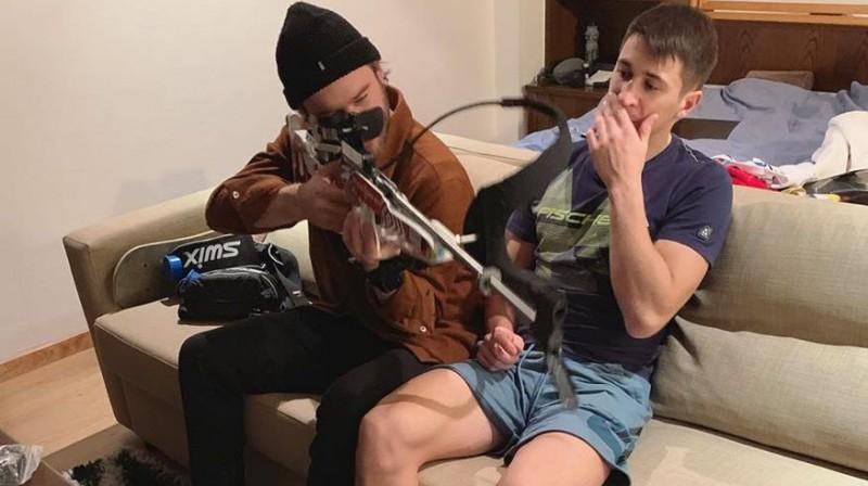 Haralds Silovs un Andrejs Rastorgujevs. Foto no Haralda Silova Facebook profila
